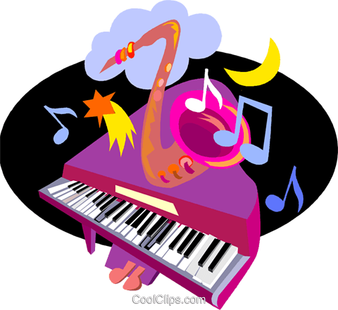 piano, brass instrument Royalty Free Vector Clip Art illustration vc005412