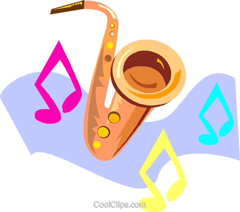 saxophone Royalty Free Vector Clip Art illustration vc005418