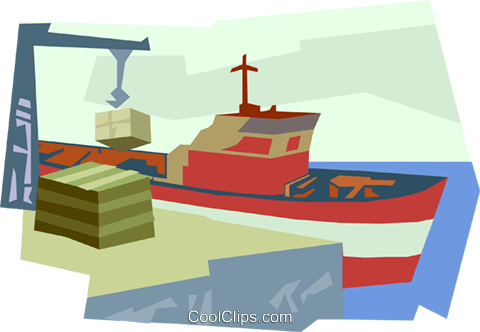 ship, shipping Royalty Free Vector Clip Art illustration vc005440