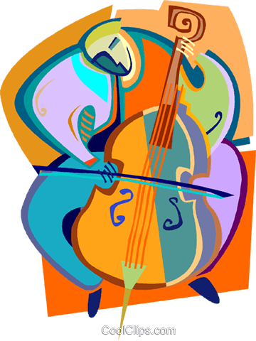 Cellist Royalty Free Vector Clip Art illustration vc005455
