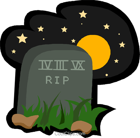 tombstone Royalty Free Vector Clip Art illustration vc005488