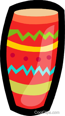 bongo drum Royalty Free Vector Clip Art illustration vc005496