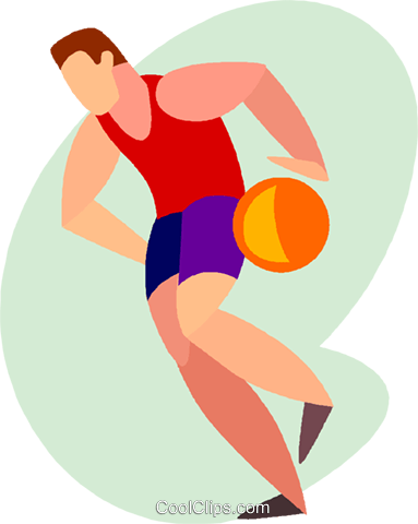 basketball player Royalty Free Vector Clip Art illustration vc005501