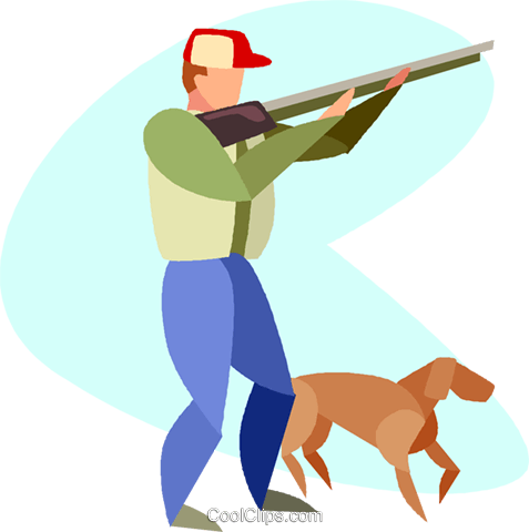 hunting Royalty Free Vector Clip Art illustration vc005518