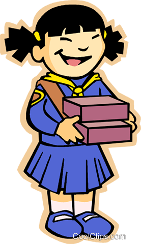 girl guides Royalty Free Vector Clip Art illustration vc005566