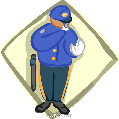 police officer Royalty Free Vector Clip Art illustration vc005580