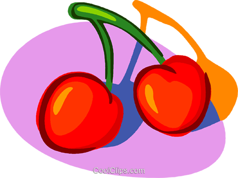 cherry Royalty Free Vector Clip Art illustration vc005591