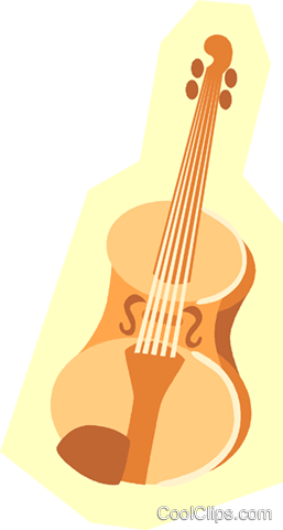 violin Royalty Free Vector Clip Art illustration vc005622