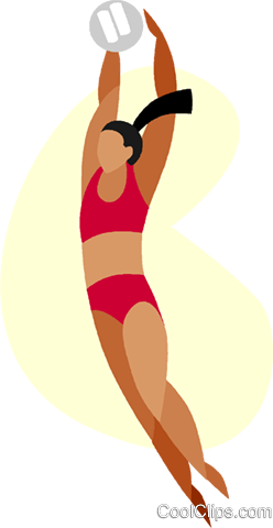 Beach volleyball Royalty Free Vector Clip Art illustration vc005631