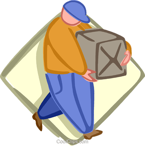 delivery man Royalty Free Vector Clip Art illustration vc005646