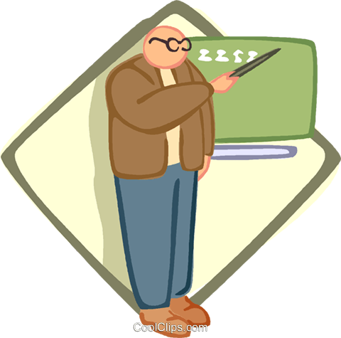 teacher Royalty Free Vector Clip Art illustration vc005648