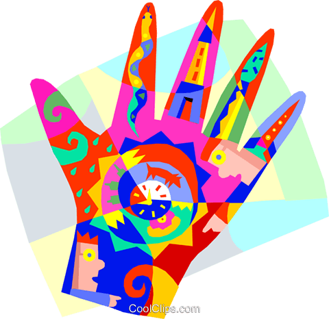 Human hand design time symbols Royalty Free Vector Clip Art illustration vc005688