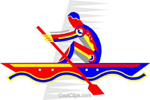 rowing Royalty Free Vector Clip Art illustration vc005698