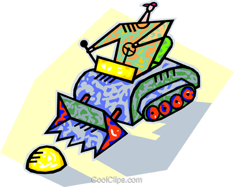 human form with tractor Royalty Free Vector Clip Art illustration vc005724