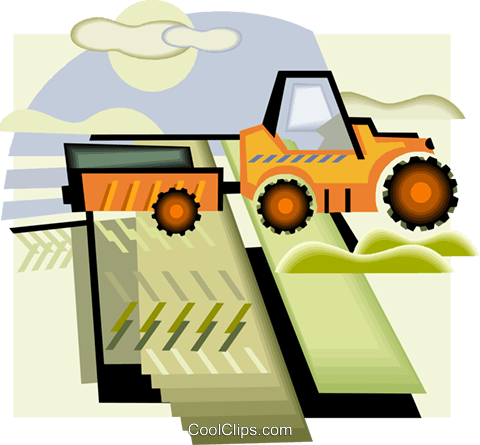 farm equipment Royalty Free Vector Clip Art illustration vc005750