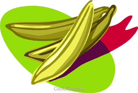 bananas, fruit Royalty Free Vector Clip Art illustration vc005782
