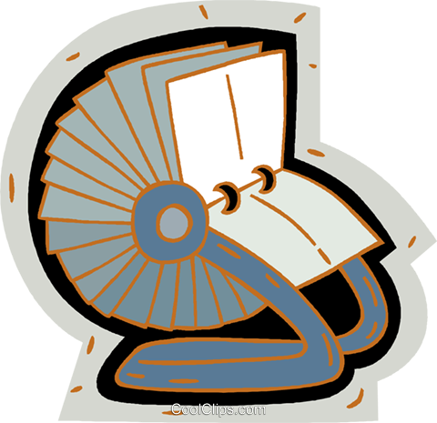 rolodex Royalty Free Vector Clip Art illustration vc005867