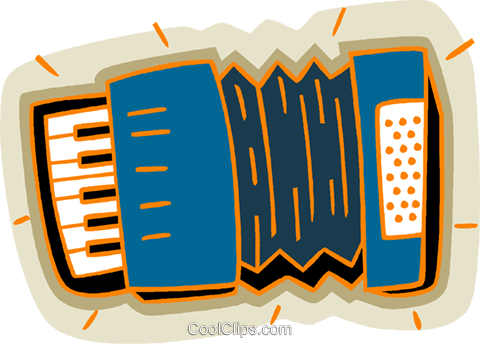 accordion Royalty Free Vector Clip Art illustration vc005890
