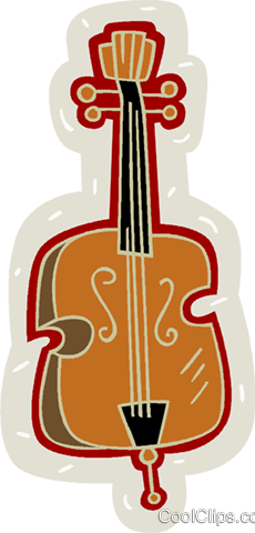 violin, musical instruments Royalty Free Vector Clip Art illustration vc005900