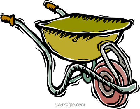 wheel barrel Royalty Free Vector Clip Art illustration vc005962