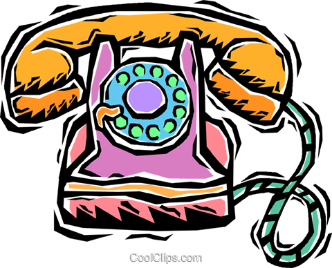 phone, rotary Royalty Free Vector Clip Art illustration vc005969