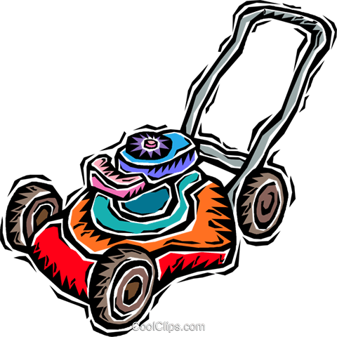 lawnmower Royalty Free Vector Clip Art illustration vc005981