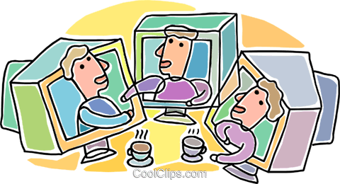internet chat Royalty Free Vector Clip Art illustration vc005998