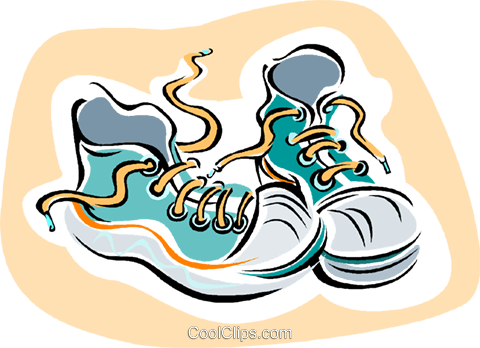 running shoes Royalty Free Vector Clip Art illustration vc006005