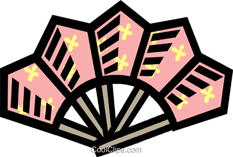 decorative fan Royalty Free Vector Clip Art illustration vc006047