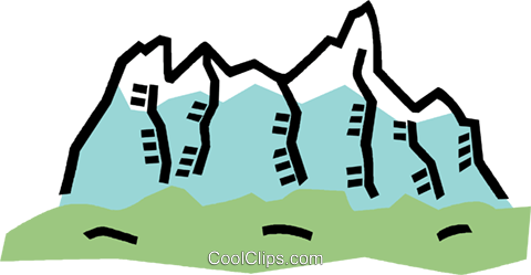 mountains Royalty Free Vector Clip Art illustration vc006060