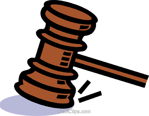 judge's gavel Royalty Free Vector Clip Art illustration vc006069