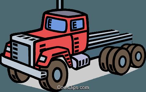 卡车,出租车 免版税矢量剪贴画插图