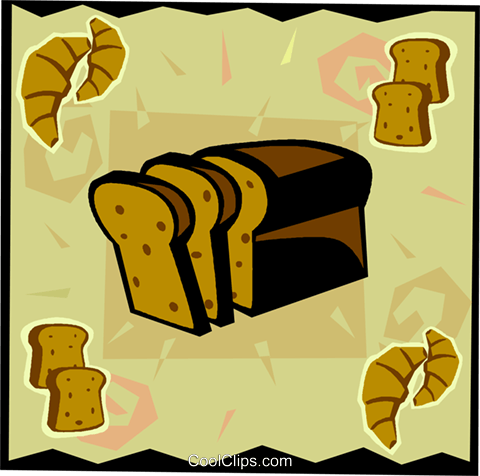 Loaf of bread Royalty Free Vector Clip Art illustration vc006102