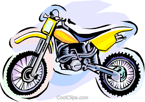 dirt bike, motorcycle Royalty Free Vector Clip Art illustration vc006115