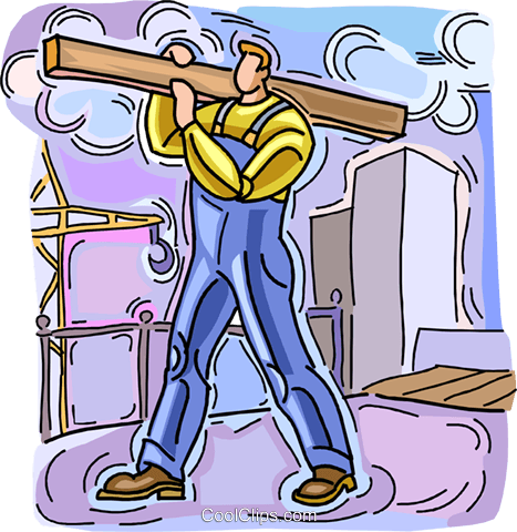 construction worker on site Royalty Free Vector Clip Art illustration vc006119