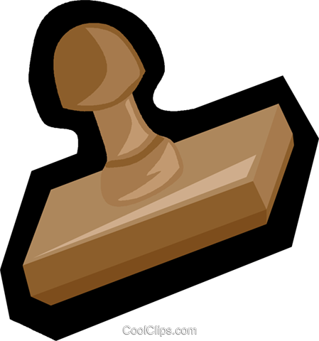rubber stamp Royalty Free Vector Clip Art illustration vc006130
