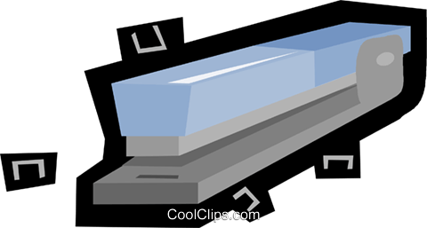 stapler, stationary Royalty Free Vector Clip Art illustration vc006154