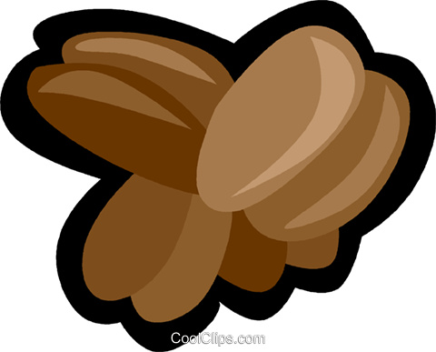 coffee beans Royalty Free Vector Clip Art illustration vc006187