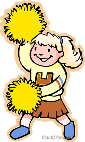 girl cheer leader Royalty Free Vector Clip Art illustration vc006214