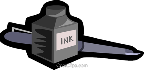 ink and pen Royalty Free Vector Clip Art illustration vc006232