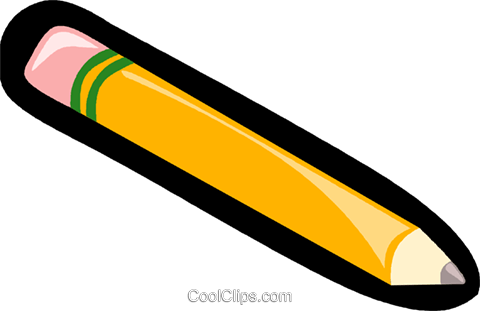 pencil, stationary Royalty Free Vector Clip Art illustration vc006240