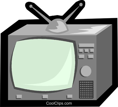 television Royalty Free Vector Clip Art illustration vc006241