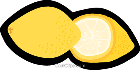 lemon Royalty Free Vector Clip Art illustration vc006242