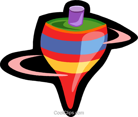 toy spinning top Royalty Free Vector Clip Art illustration vc006246