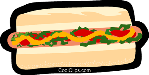 hotdog, fast food Royalty Free Vector Clip Art illustration vc006254
