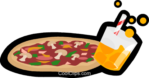 pizza, fast food Royalty Free Vector Clip Art illustration vc006258