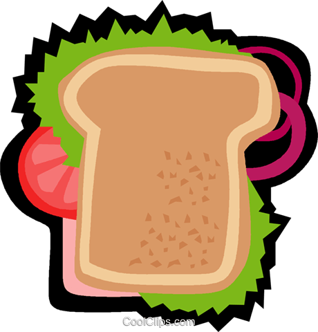 snack, sandwich Royalty Free Vector Clip Art illustration vc006262