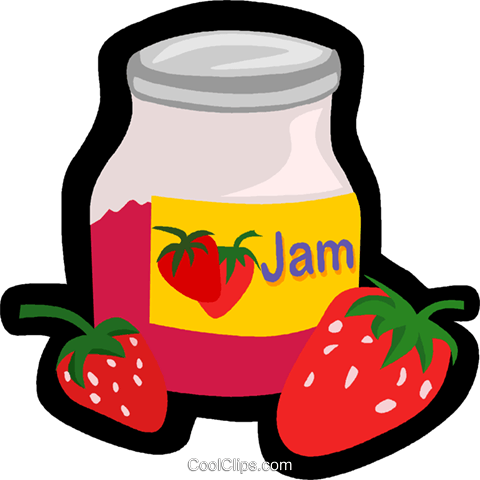 strawberry jam Royalty Free Vector Clip Art illustration vc006266