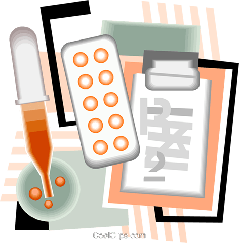 blood testing, laboratory tests Royalty Free Vector Clip Art illustration vc006302