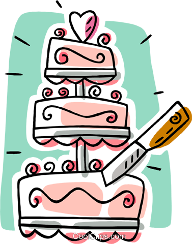 Wedding Cake Royalty Free Vector Clip Art Illustration Vc006332